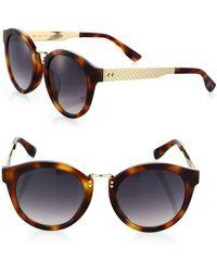 Jimmy Choo - Pepy 50mm Round Sunglasses - Lyst