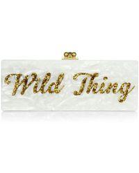 Edie Parker - Flavia Wild Thing Acrylic Clutch - Lyst