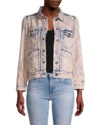 Joie Button-front Denim Jacket - Multicolour