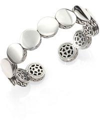 John Hardy Dot Sterling Silver Slim Cuff Bracelet - Metallic