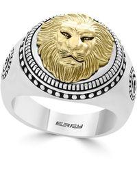 Effy Gento Lion Sterling Silver Band Ring - Metallic