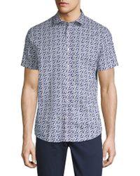 Slate & Stone - Printed Cotton Button-down Shirt - Lyst