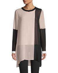 Calvin Klein Colorblock Long-sleeve Tunic - Multicolour
