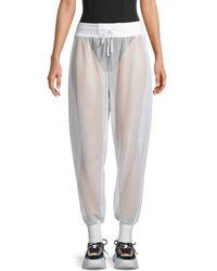 BLANC NOIR Poolside Mesh Jogging Trousers - Grey
