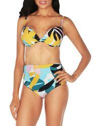 Tahari Poptomistic Bikini Top - Blue