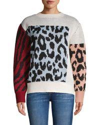 Cliche Animal-print Sweater - Multicolor