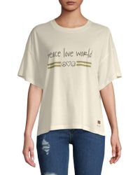 Peace Love World - Kenny Dropped-shoulder Top - Lyst
