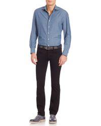 Eidos - Windowpane Checked Shirt - Lyst