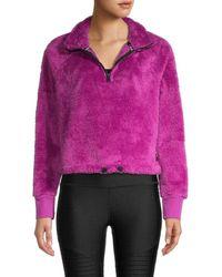Calvin Klein Women's Plush Knit Popover - Vivid Violet - Size Xl - Purple