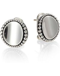 Lagos - Sterling Silver Caviar-beaded Button Earrings - Lyst