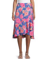 Ava & Aiden Floral Ruffle Wrap Skirt - Multicolour