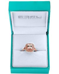 Effy - 14k Rose Gold, Diamonds And Morganite Ring - Lyst