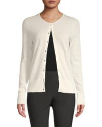 Saks Fifth Avenue Black - Buttoned Cashmere Cardigan - Lyst