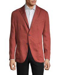 Boglioli Standard-fit Linen Sportcoat - Orange