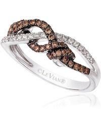 Le Vian - 14k Vanilla Gold Vanilla Diamonds & Chocolate Diamonds Chocolatier Gladiator Weave Ring - Lyst