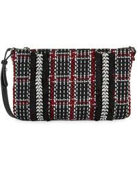 Sam Edelman Swara Embellished Woven Crossbody Bag - Black