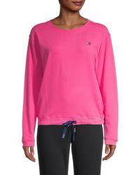 Tommy Hilfiger Drawstring-hem Sweatshirt - Pink