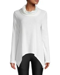 Marc New York Knit Cowl-neck Tunic - White