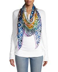 Missoni Geo Print Triangular Silk Scarf - Multicolor