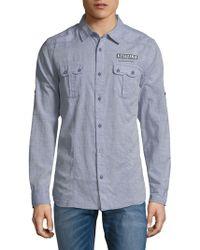 Buffalo David Bitton Salamen Button-down Shirt - Blue