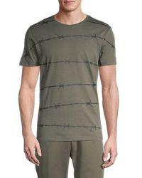 Antony Morato Men's Printed Cotton Tee - Green - Size S