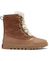 Sorel Women's Joan Of Arctic Next Lite Shearling-trimmed Leather Boots - Velvet Tan - Size 10 - Brown