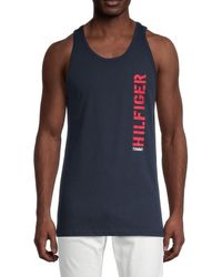 Tommy Hilfiger Logo Tank Top - Blue