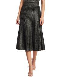 A.L.C. Nevada Lurex Knit Midi Skirt - Black