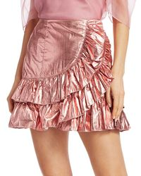 Cinq À Sept Akira Foil Tier Skirt - Multicolour