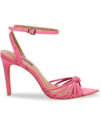 BCBGMAXAZRIA Delia Leather Ankle-strap Sandals - Pink