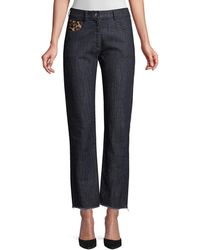 Michael Kors Straight-leg Patch Jeans - Blue