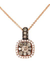 Effy - Espresso 14kt. Rose Gold Brown Diamond Pendant Necklace - Lyst