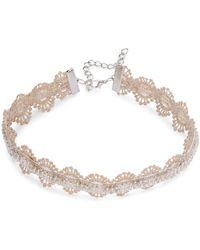 Noir Jewelry - Beaded Choker Necklace - Lyst