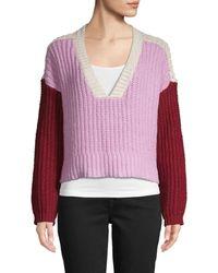 Wildfox Women's Colorblock Cotton Sweater - Crepe Multi - Size S - Multicolor