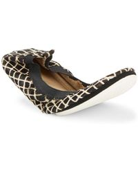 Yosi Samra - Fur & Leather Slip-on Flats - Lyst
