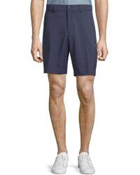 Saks Fifth Avenue Woven Golf Shorts - Blue