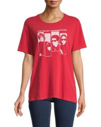 R13 Graphic Cotton-blend Tee - Red