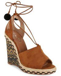 Aquazzura - Palm Springs Leather Wedge Sandals - Lyst