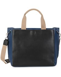 French Connection Large Maxine Faux Leather Satchel - Multicolour