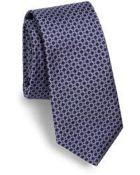 Saks Fifth Avenue - Diamond Print Silk Tie - Lyst