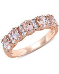 Saks Fifth Avenue 14k Rose Gold, Morganite & Diamond Ring - Pink