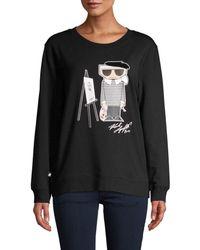 Karl Lagerfeld Painting Karl Sweatshirt - Black