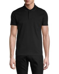 KENZO Short-sleeve Cotton Polo - Black