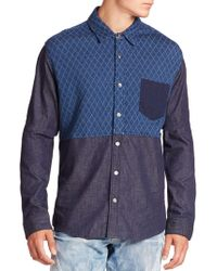 PRPS - Two-tone Quilted Shirt - Lyst