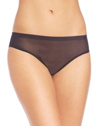 Hanro Temptation Sheer Tulle Bikini Briefs - Black