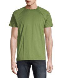 Loro Piana Men's Raglan-sleeve Cotton Tee - Green - Size Xs