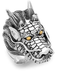 Effy 18k Yellow Gold And Sterling Silver Dragon Ring - Metallic