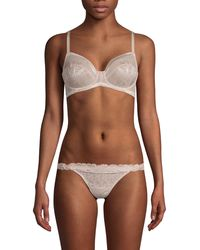 Wacoal Floral Embroidery Underwire Bra - Brown