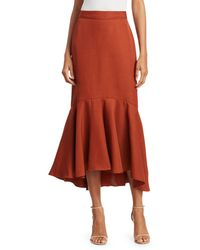 Johanna Ortiz Protagonista De Hist High-low Midi Skirt - Multicolour