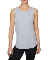 Betsey Johnson - Ribbed Muscle Tank Top - Lyst